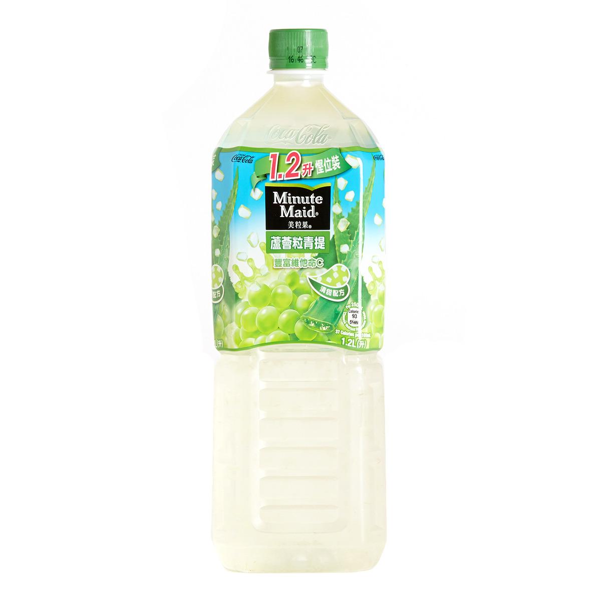膠樽裝蘆薈粒青提子汁飲品
