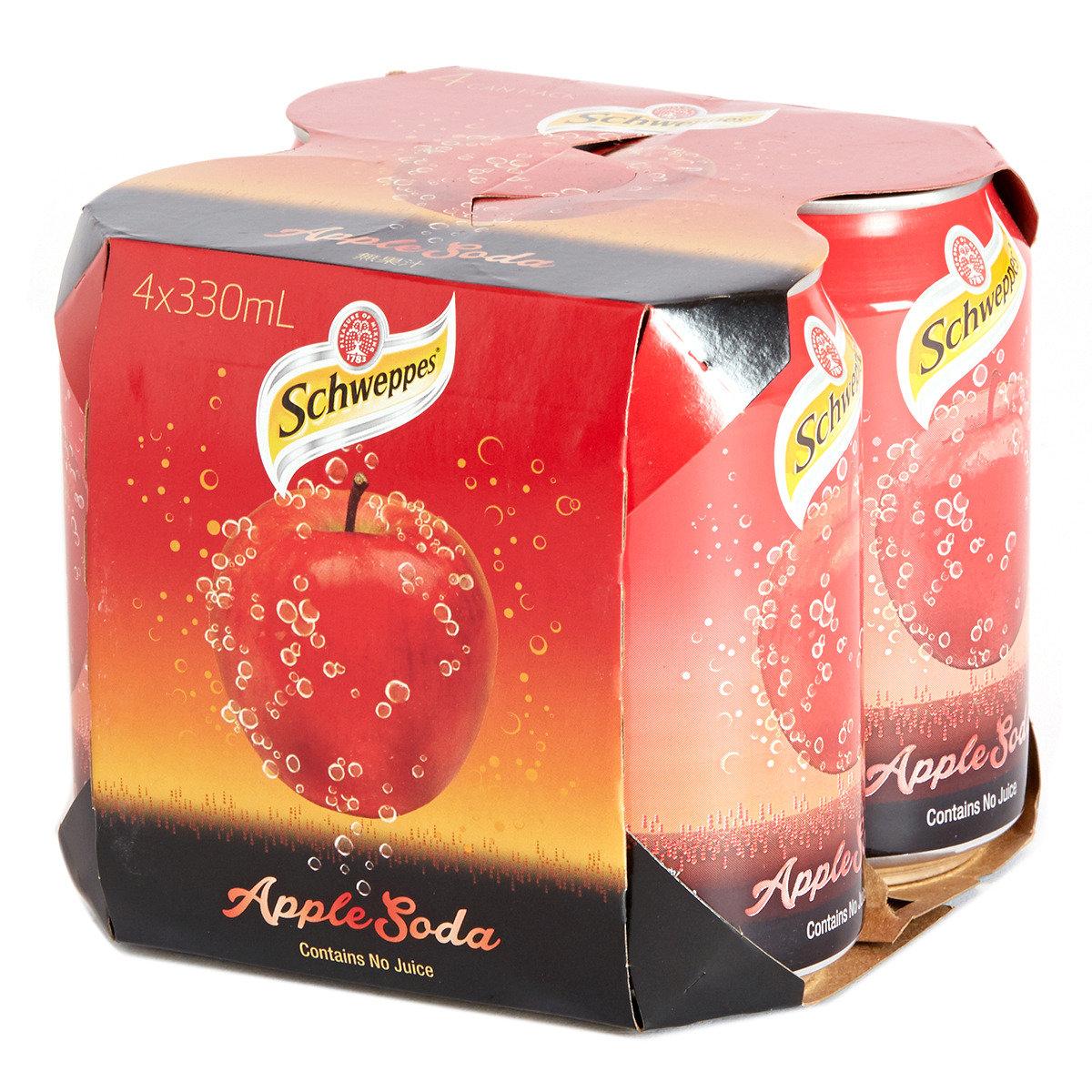罐裝有氣蘋果味汽水