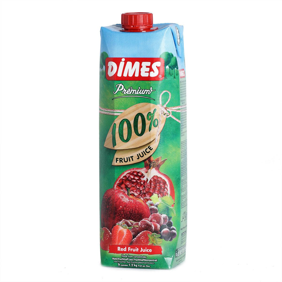 紅色水果雜果汁