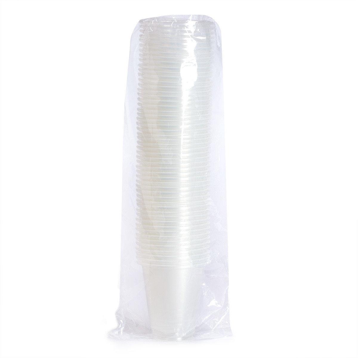 12安士透明膠杯