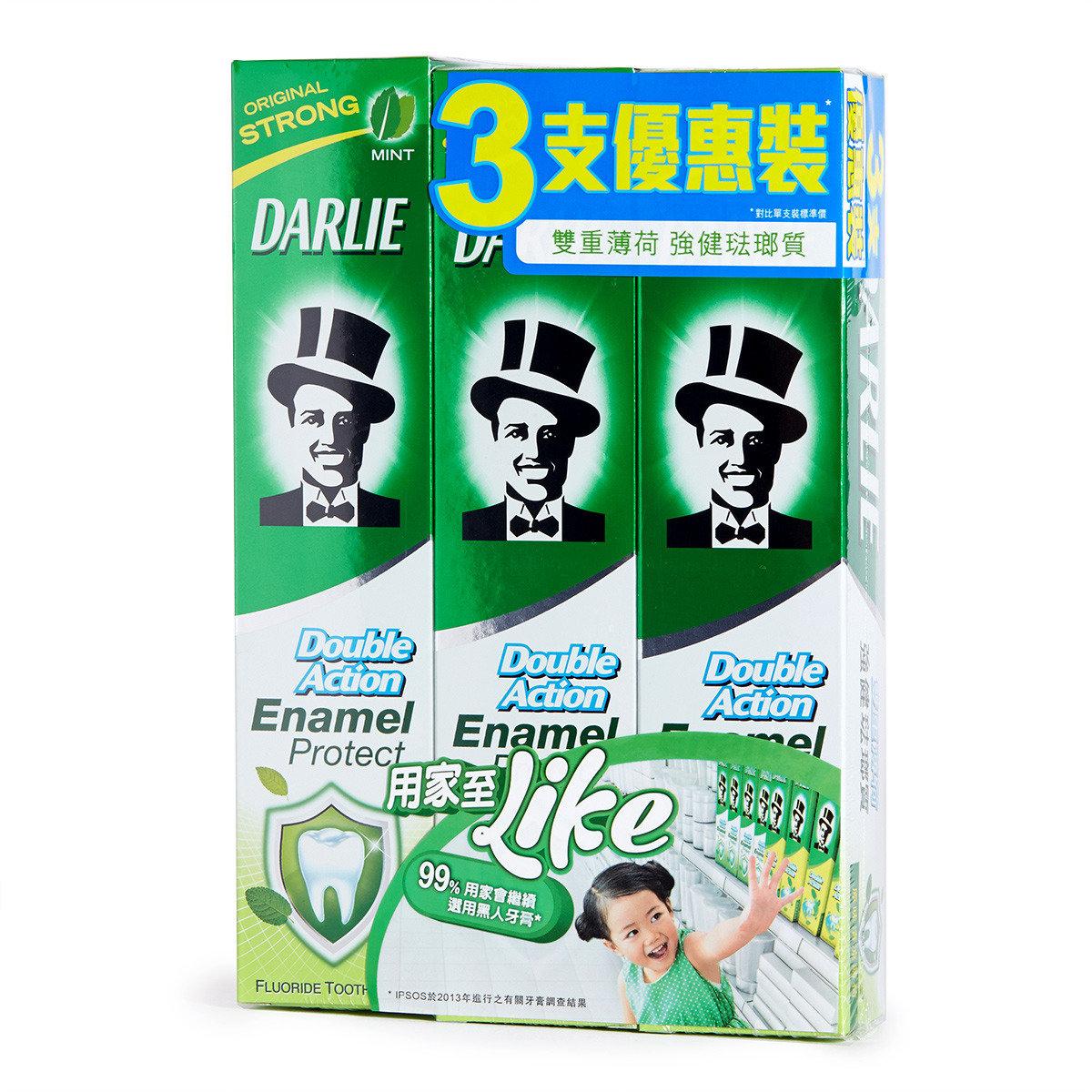 雙重薄荷強健琺瑯質牙膏