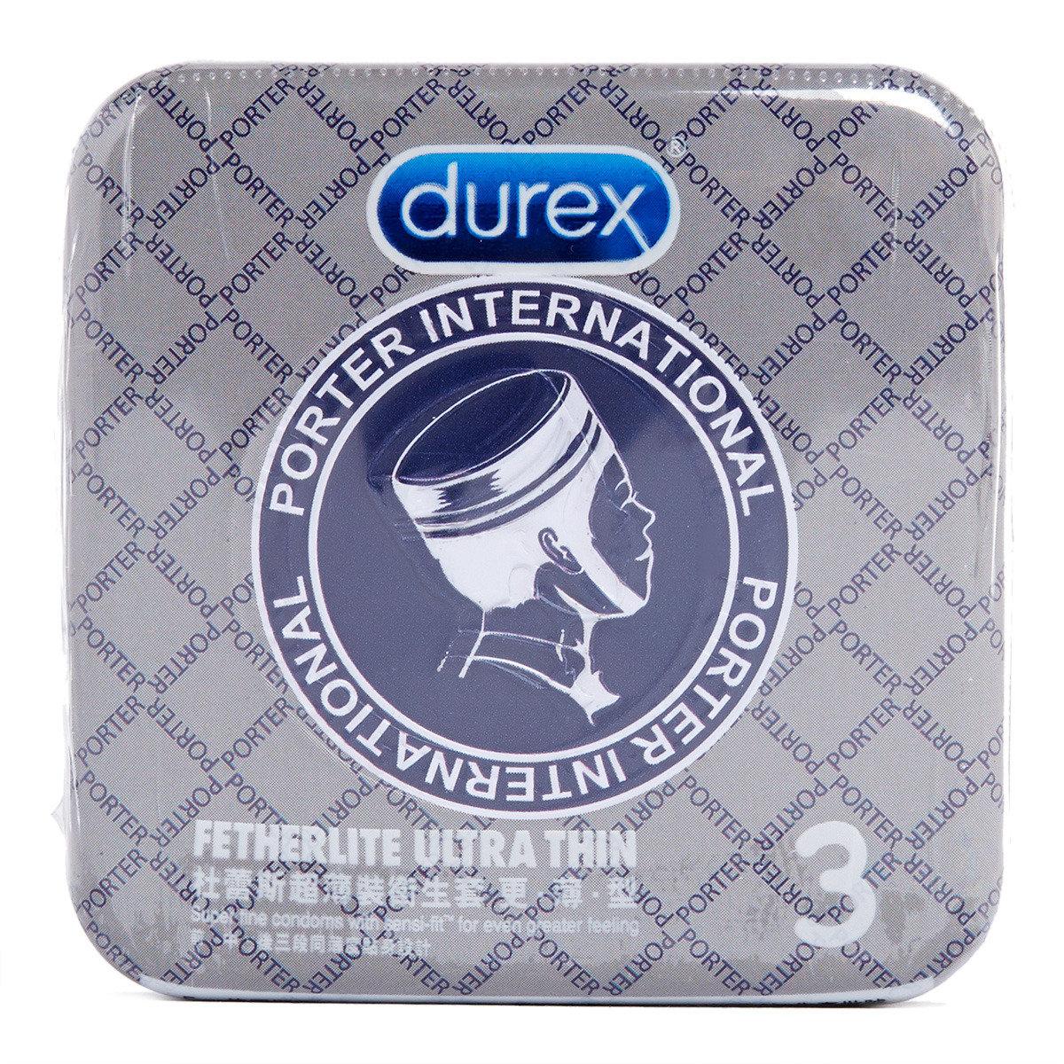 杜蕾斯 x Porter超薄裝衛生套更薄型3片 (灰格子)