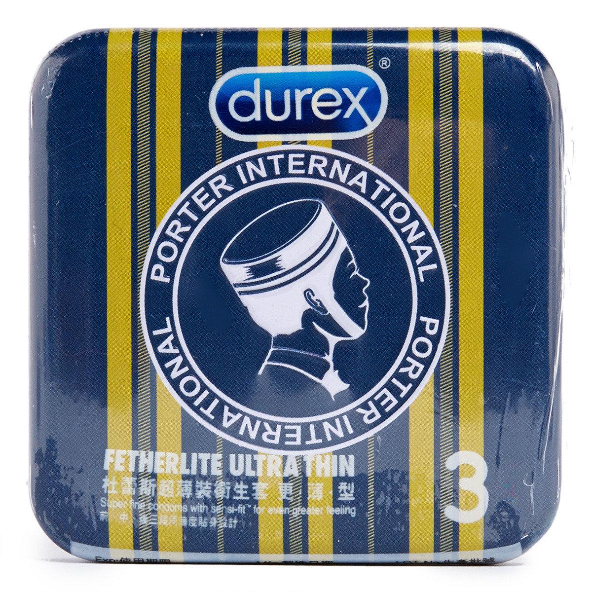 杜蕾斯 x Porter 超薄裝衛生套更薄型3片 (黃直間)