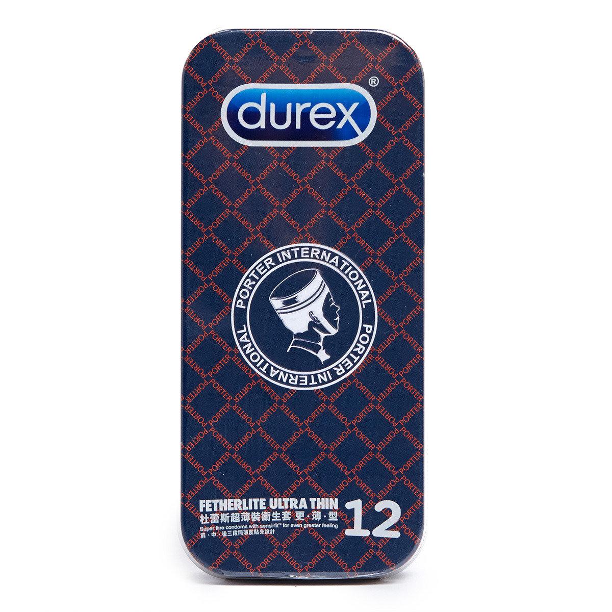 杜蕾斯 x Porter 超薄裝衛生套更薄型12片 (黑格子)