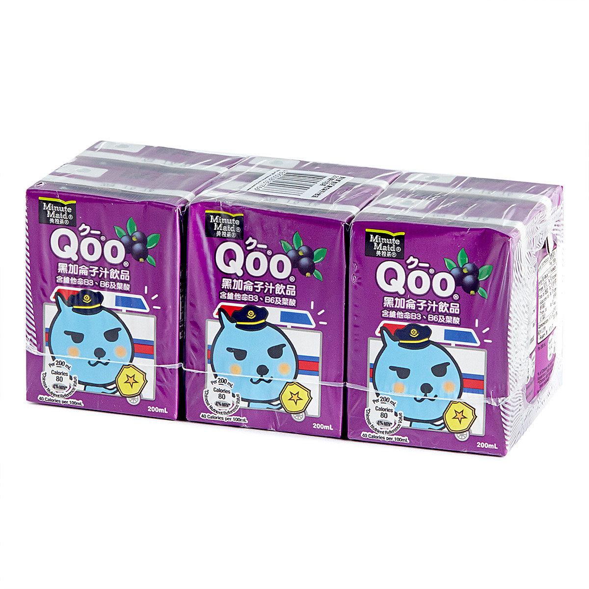 Qoo黑加侖子汁飲品 (紙包)