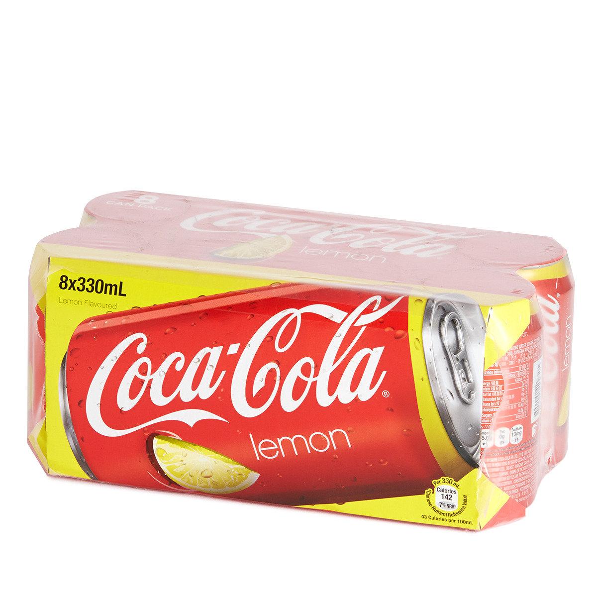 罐裝檸檬味可口可樂汽水