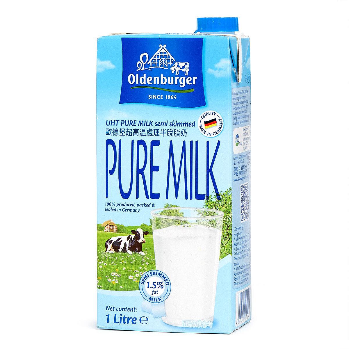 UHT 超高温處理半脫脂奶