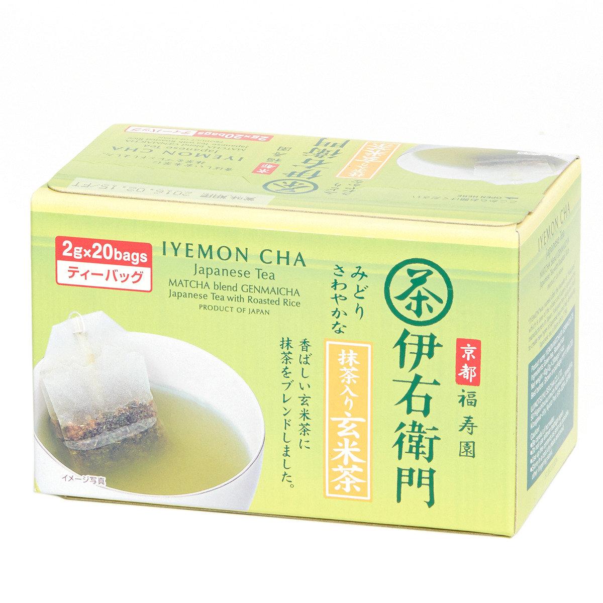 伊右衛門玄米茶茶包 (抹茶入)