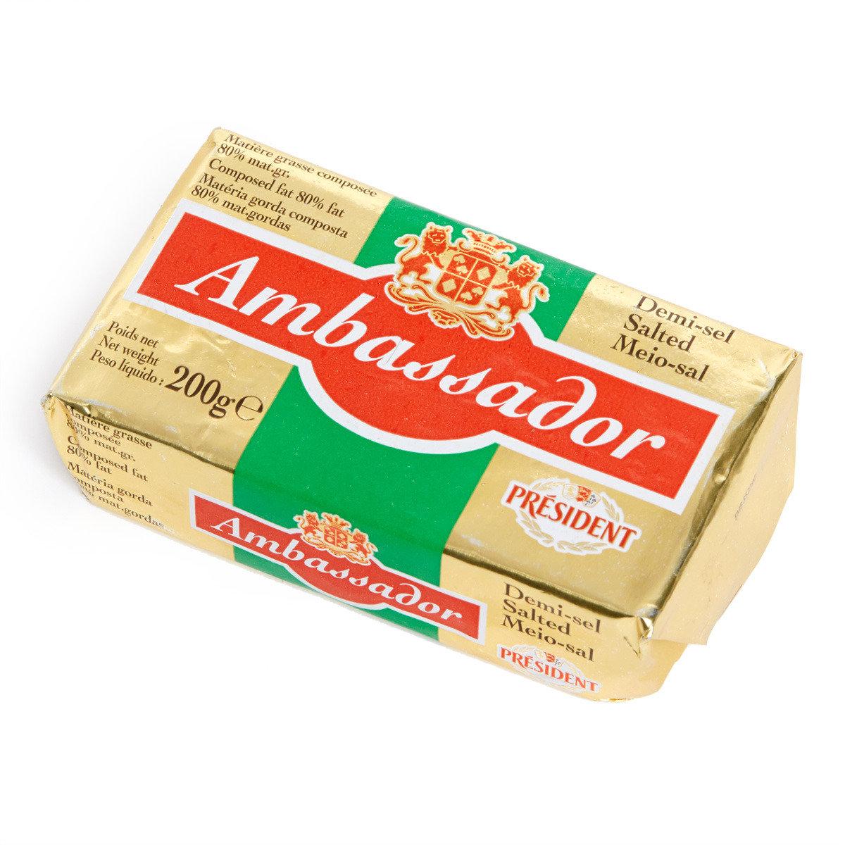 法國大使咸味混合輕牛油 (冷凍)