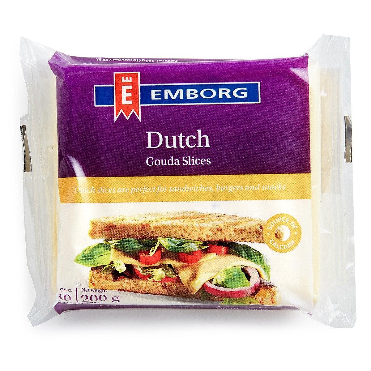 丹麥紫堡牌高打片裝芝士 (10片) (冷凍)
