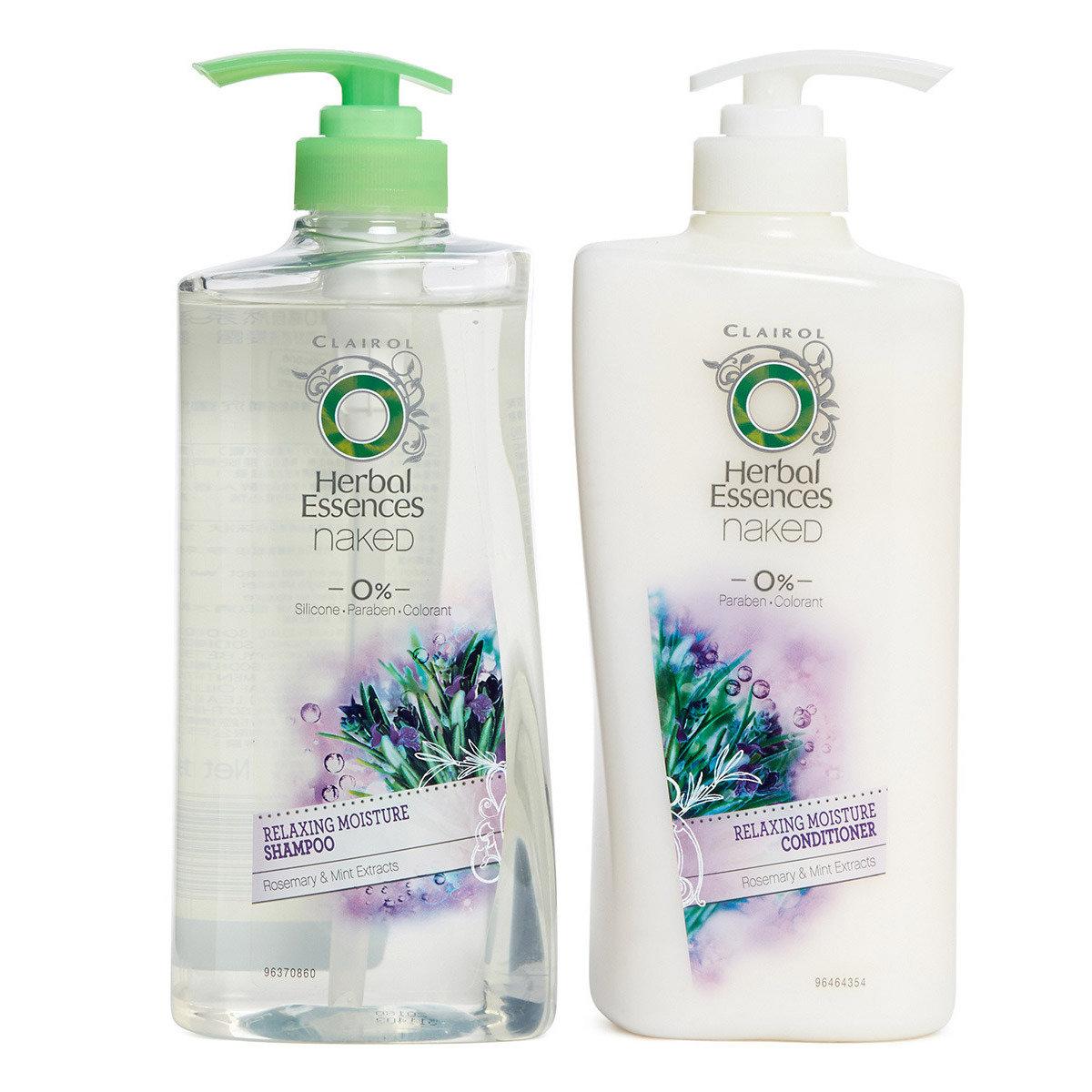 [優惠套裝] 草本精華0感自然系列迷迭香薄荷水潤舒然洗髮護髮套裝