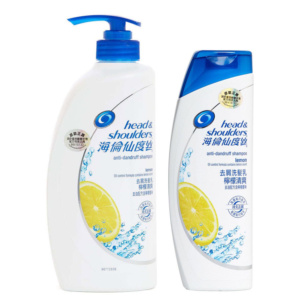 [優惠套裝] 海倫仙度絲去屑洗髮乳檸檬清爽750毫升 + 400毫升