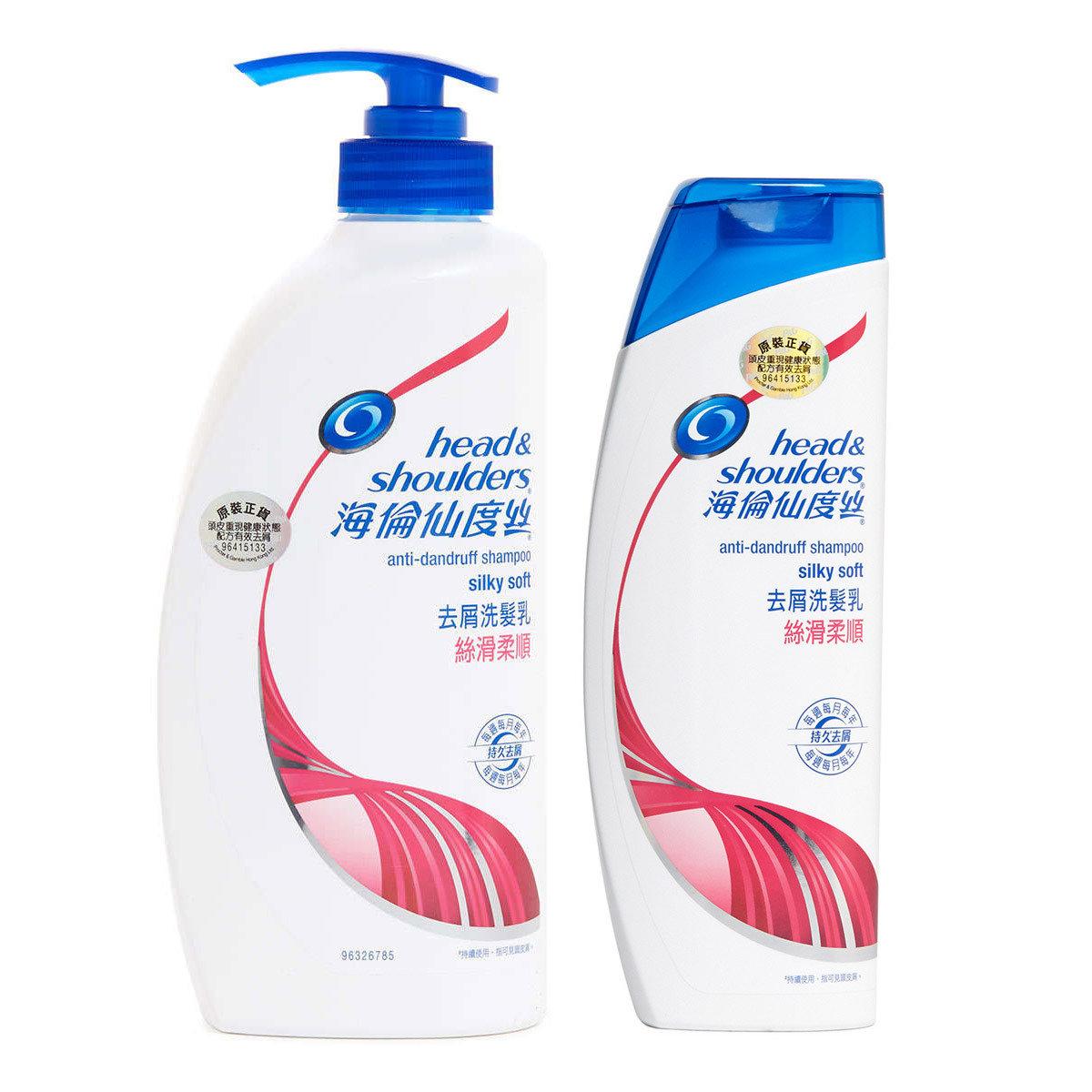 [優惠套裝] 海倫仙度絲去屑洗髮乳絲滑柔順750毫升 + 400毫升