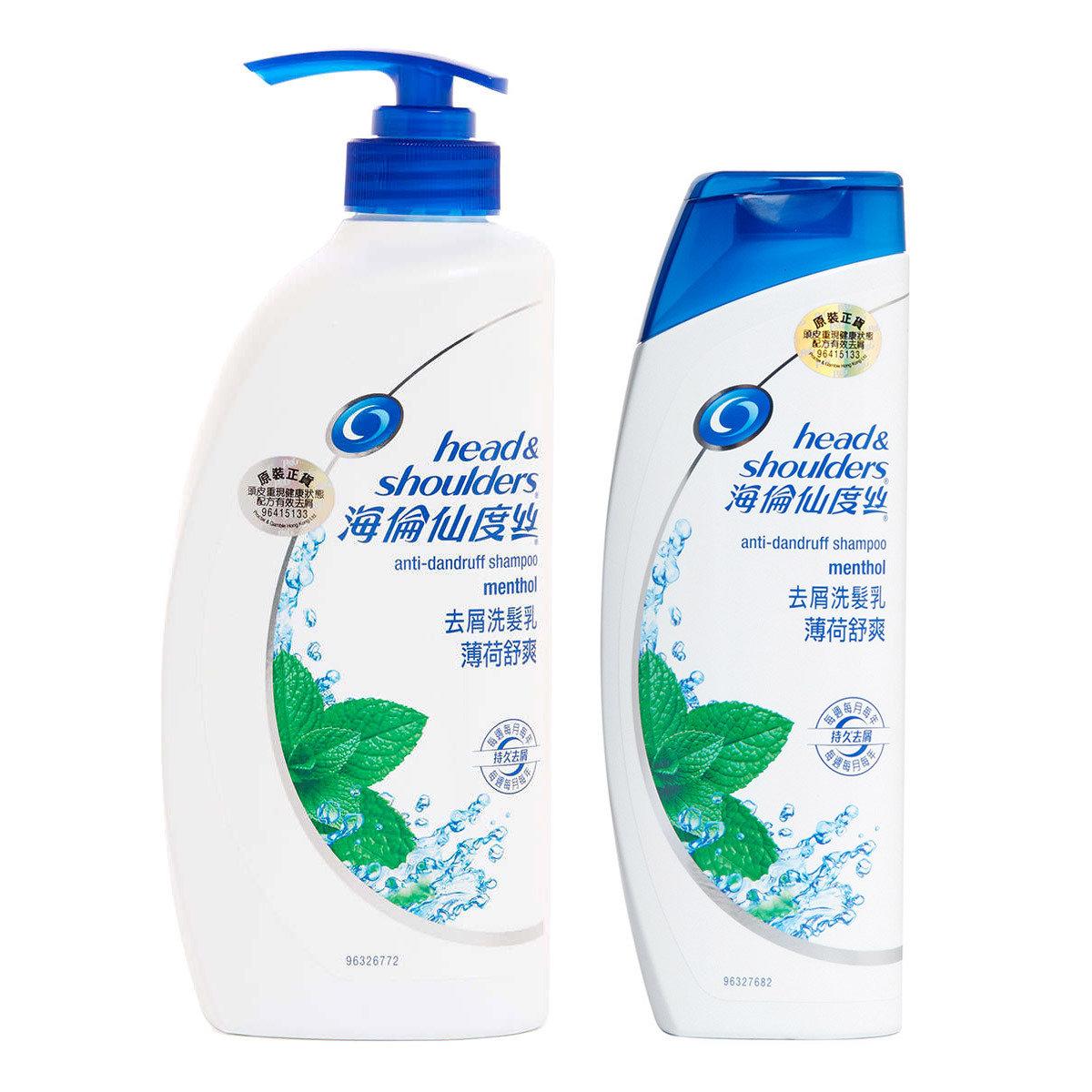 [優惠套裝] 海倫仙度絲去屑洗髮乳薄荷舒爽750毫升 + 400毫升