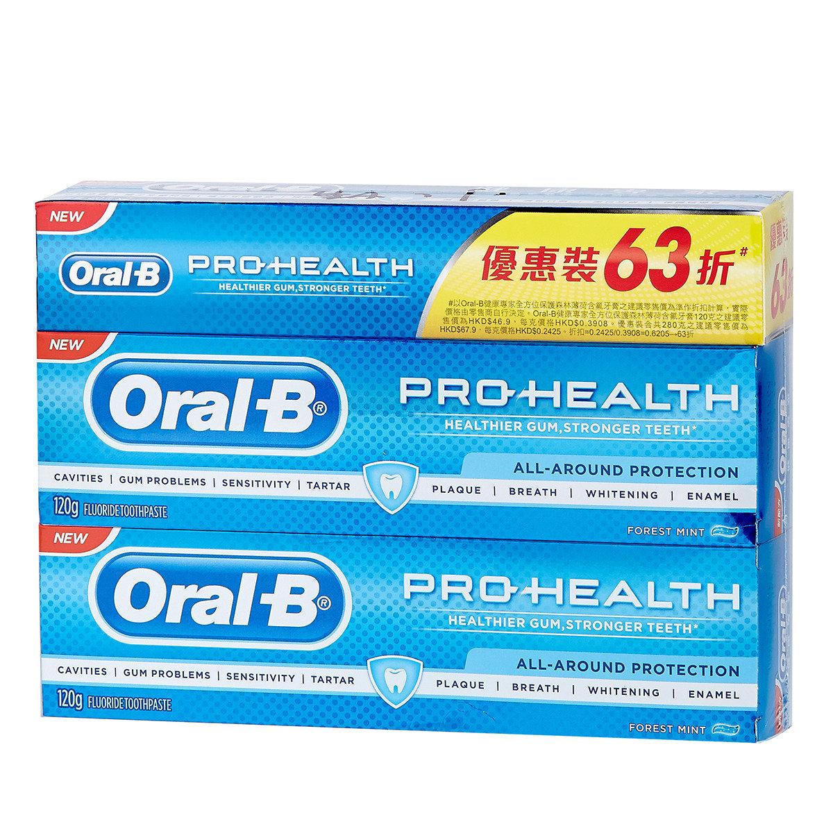 健康專家森林薄荷含氟牙膏 (孖裝) 加送牙膏20克兩支