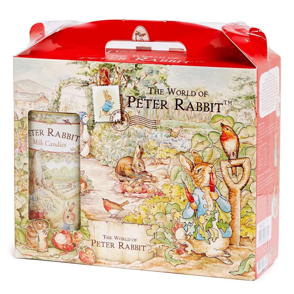 比得兔糖果禮盒(內附原味牛奶糖+草莓牛奶糖+比得兔兩用密封罐)