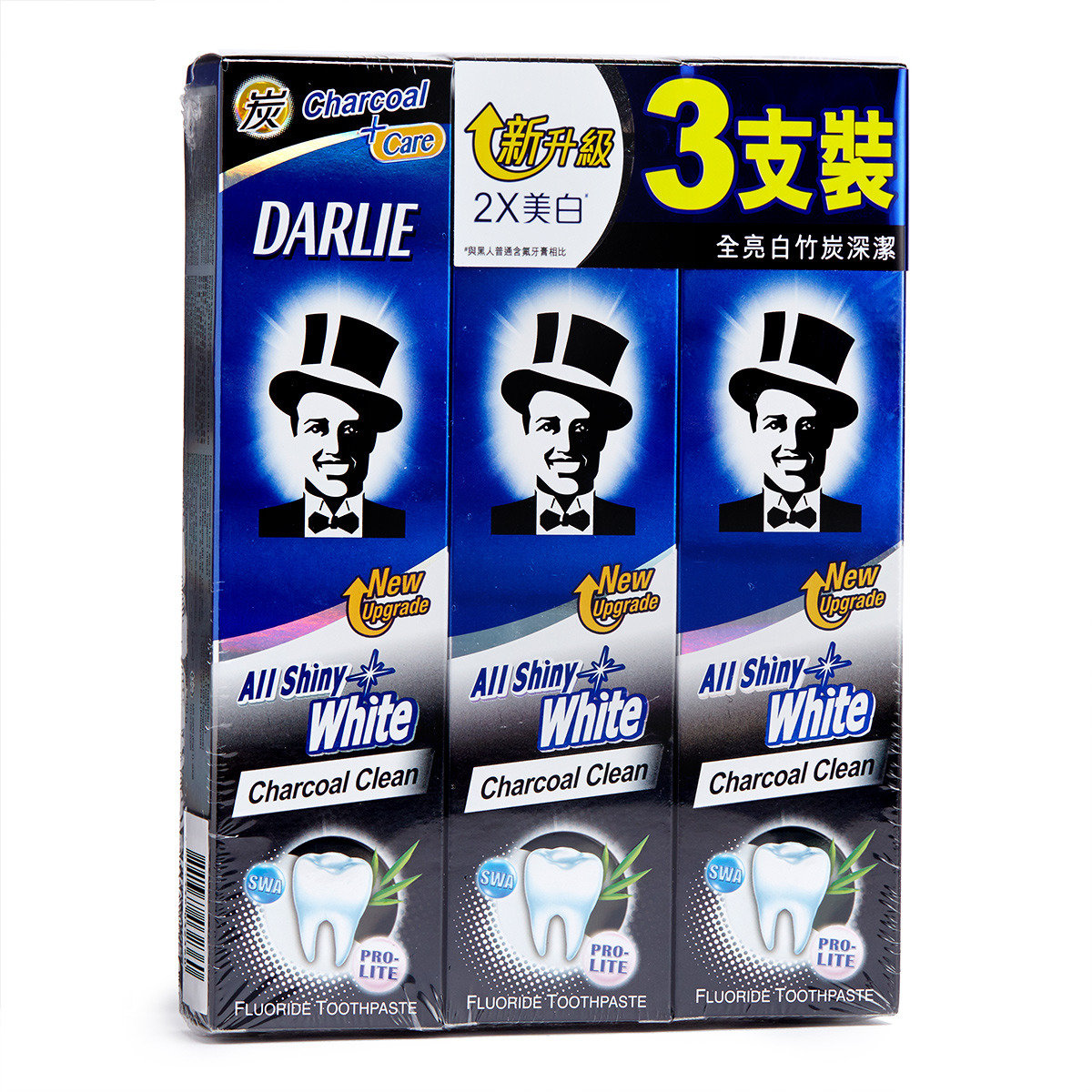 Darlie Pro Lite All Shiny White Charcoal Clean Fluoride Toothpaste Hktvmall Online Shopping