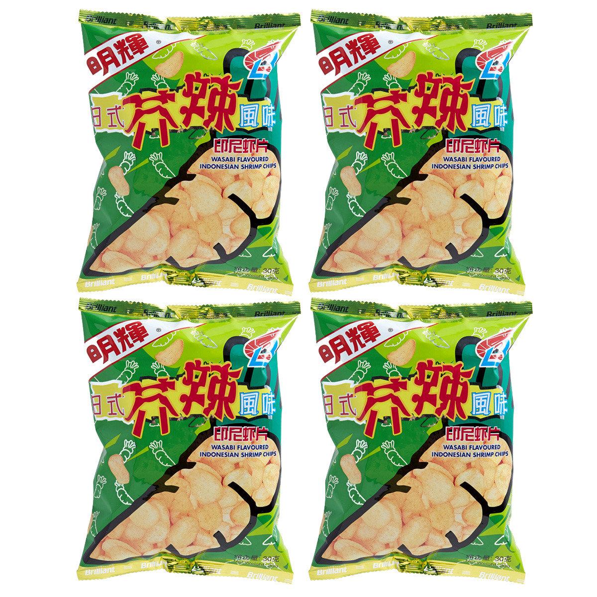 芥辣味蝦片
