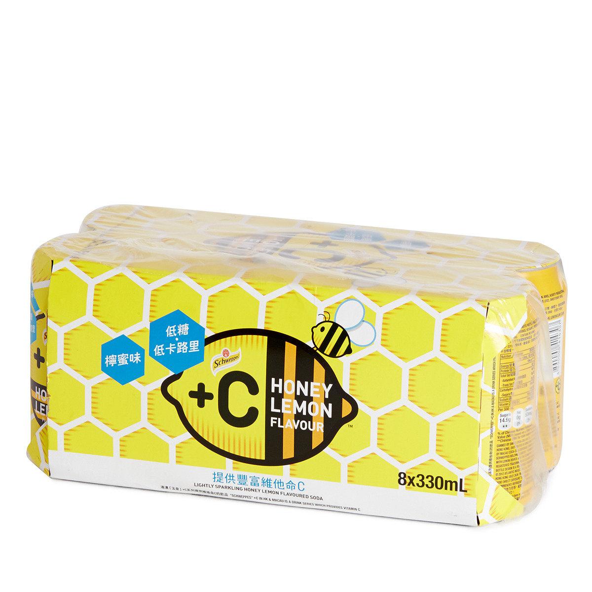 罐裝+C有汽檸檬蜂蜜味飲品