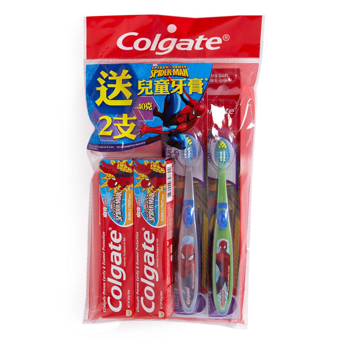 蜘蛛俠兒童牙刷 + 兒童牙膏