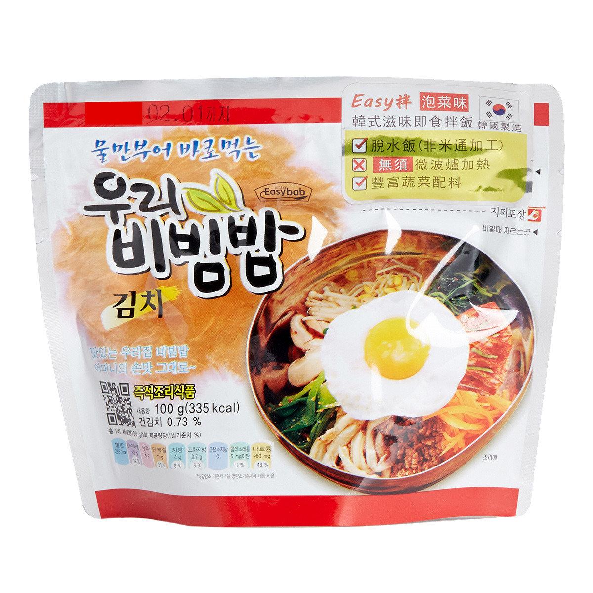 韓式滋味即食拌飯 - 泡菜味