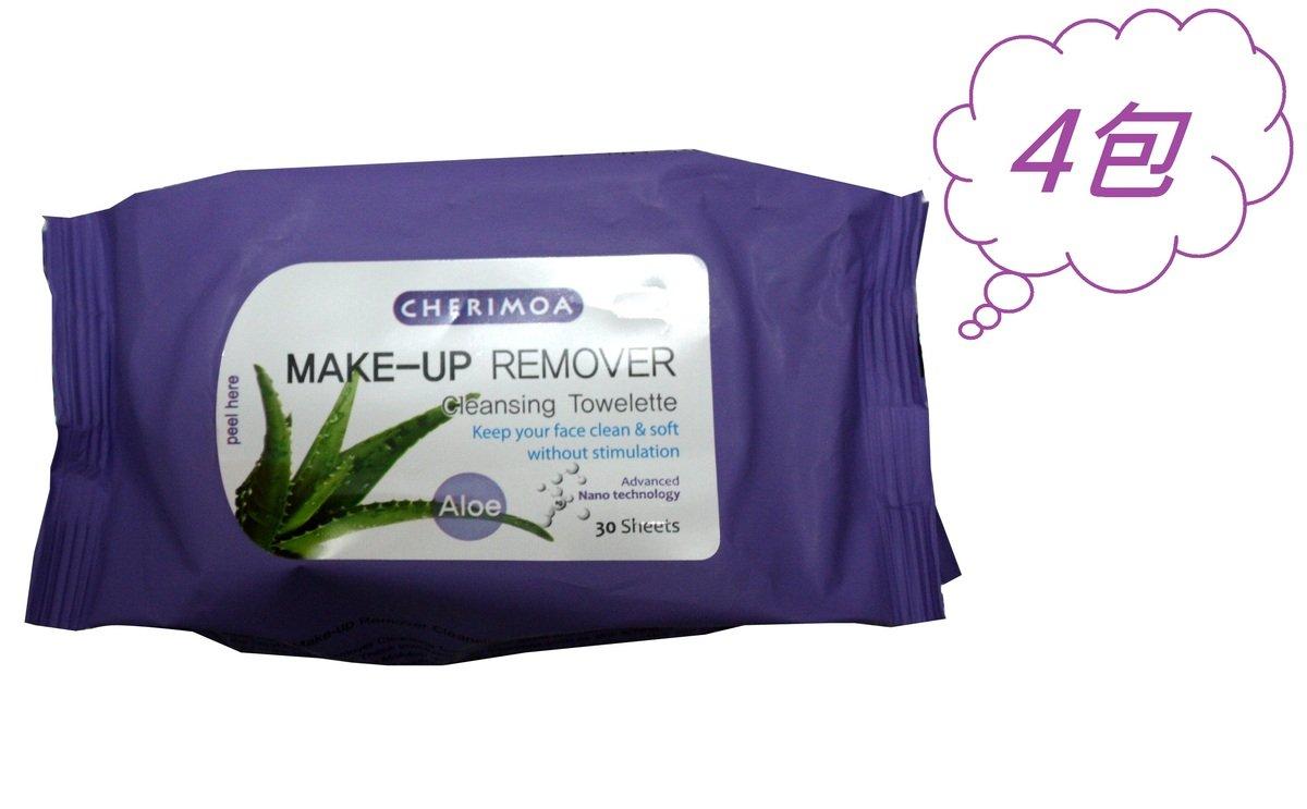 卸妝濕紙巾 - 蘆薈(30片)4包組合
