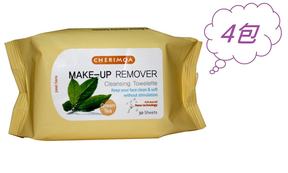 卸妝濕紙巾 - 綠茶(30片)4包組合