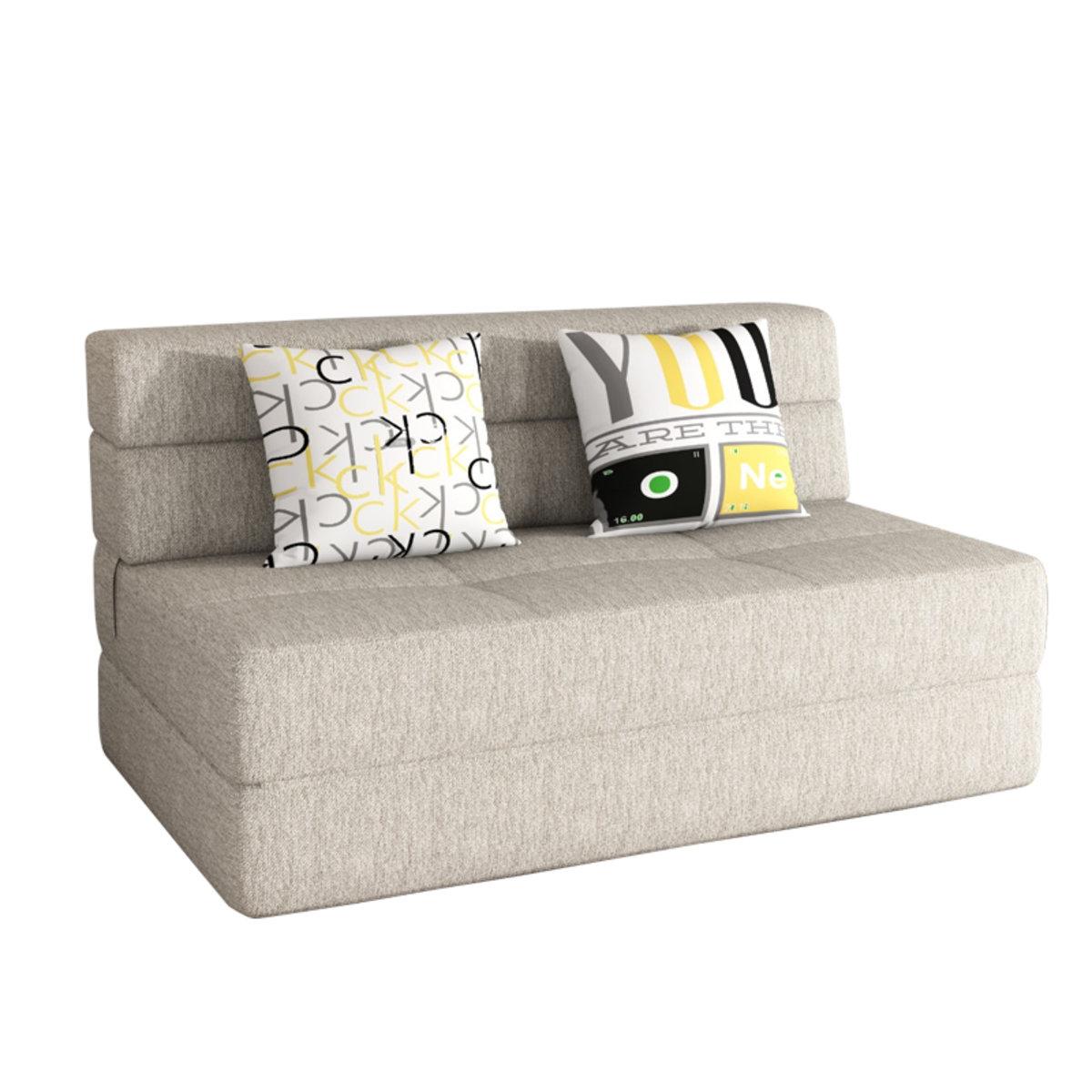 Erstaunlich Sofa 150 Cm Galerie Von Fabric Foldable Bed Ym002 Beige 150cm