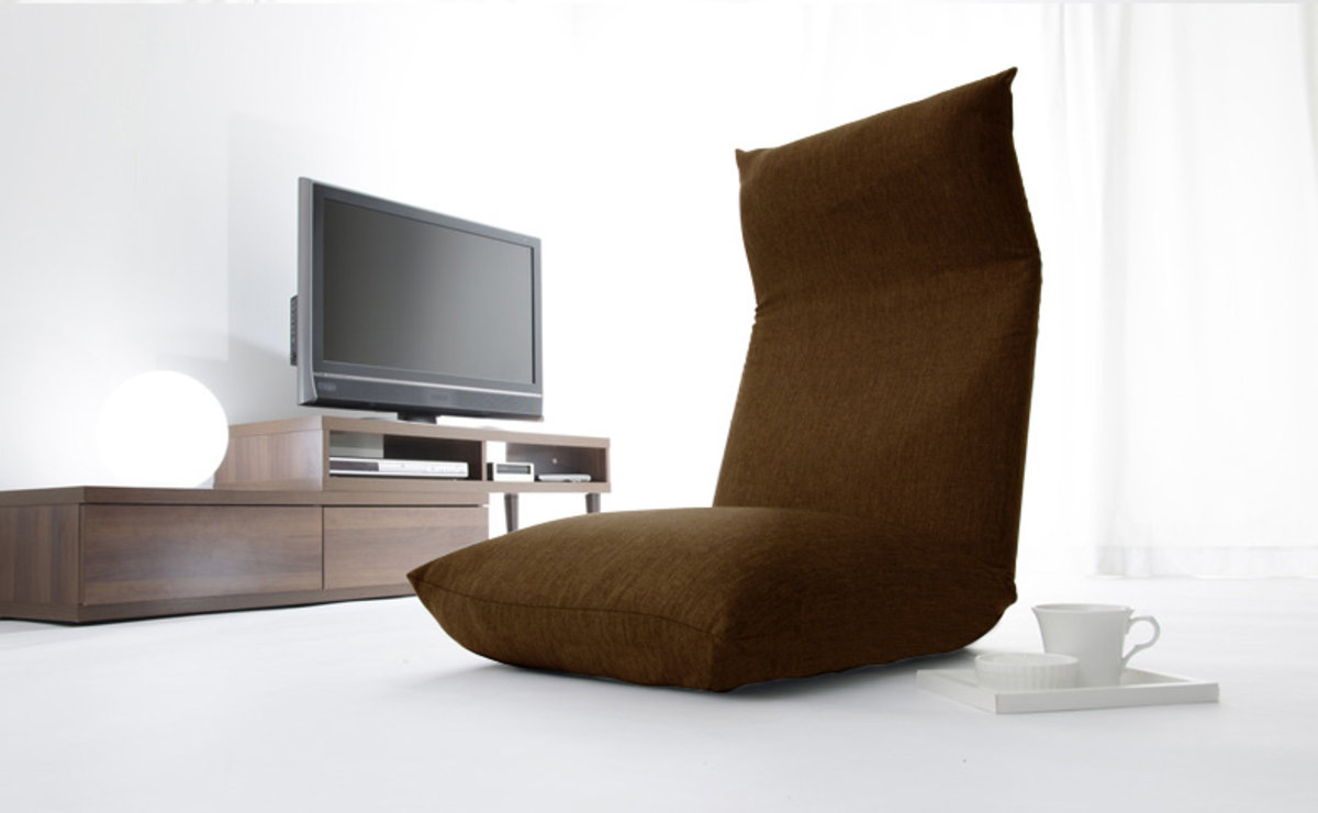 Memory Foam Design Floor Chair (Brown)