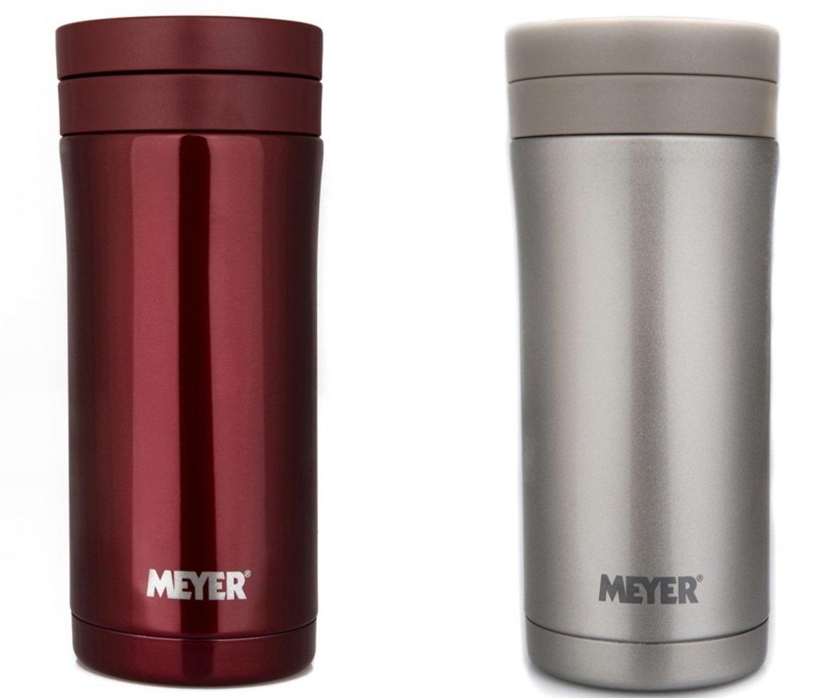 2件保溫杯套裝 350毫升不鏽鋼保溫杯,紅色 (#59338) + 350毫升不鏽鋼保溫杯,金色 (#59339)