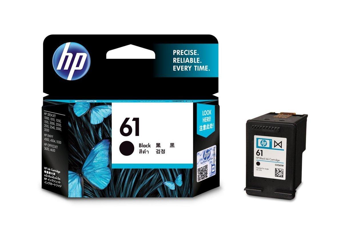 HP 61 黑色油墨盒(標準裝 CH561WA)