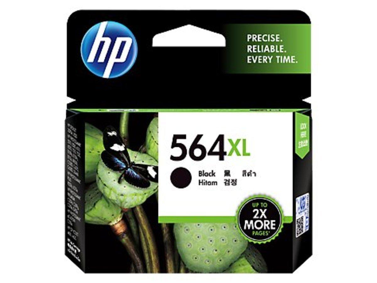 HP 564XL 黑色油墨盒(加大裝 CN684WA)