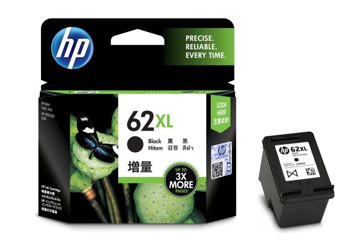 HP 62XL 黑色油墨盒(加大裝 C2P05AA)
