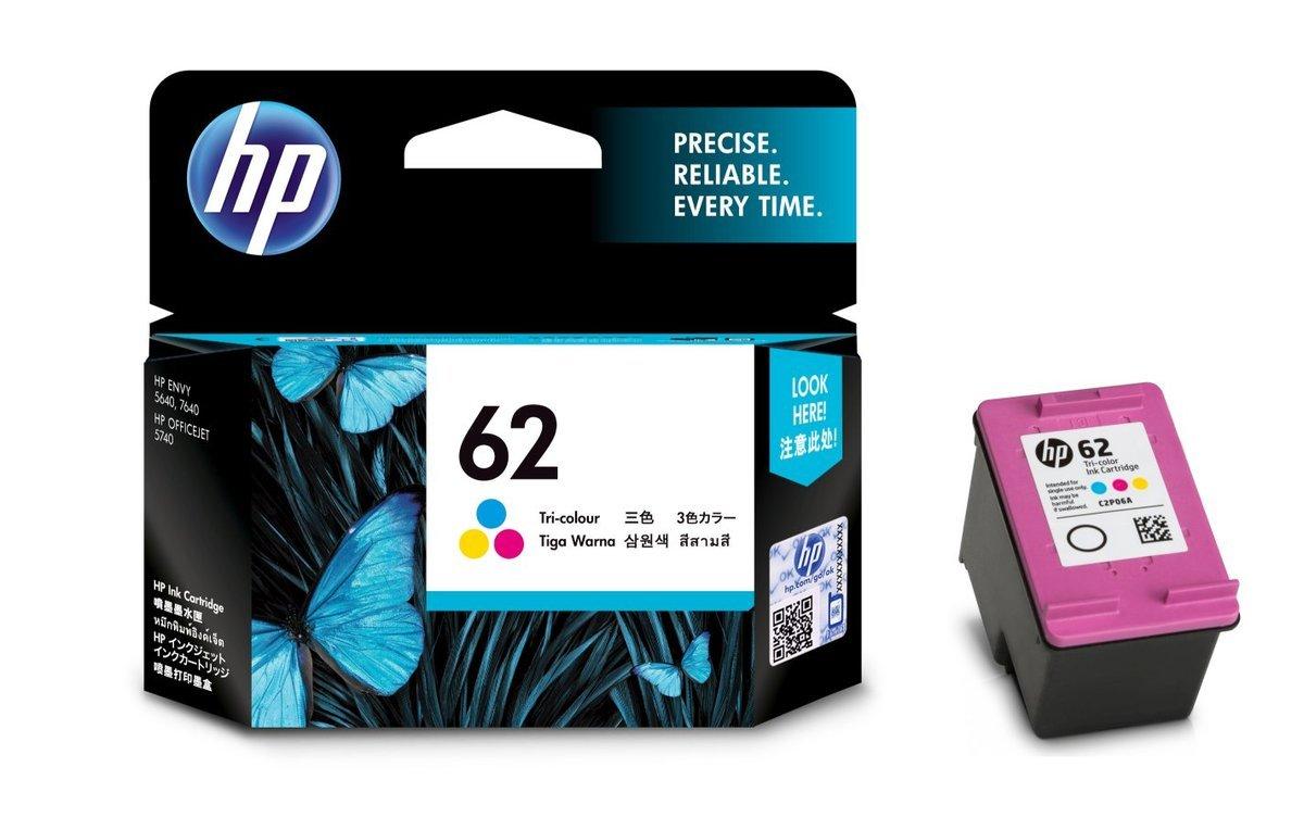 HP 62 三色油墨盒(標準裝 C2P06AA)