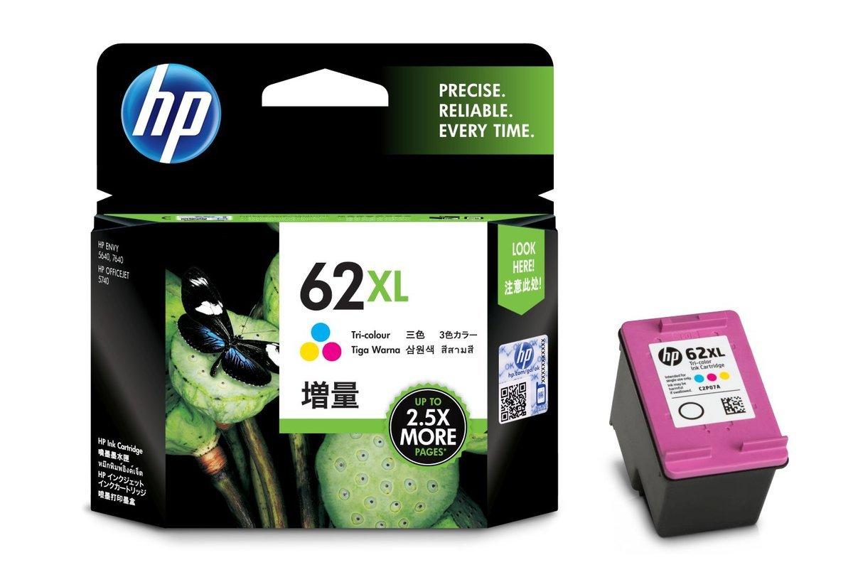 HP 62XL 三色油墨盒(加大裝 C2P07AA)