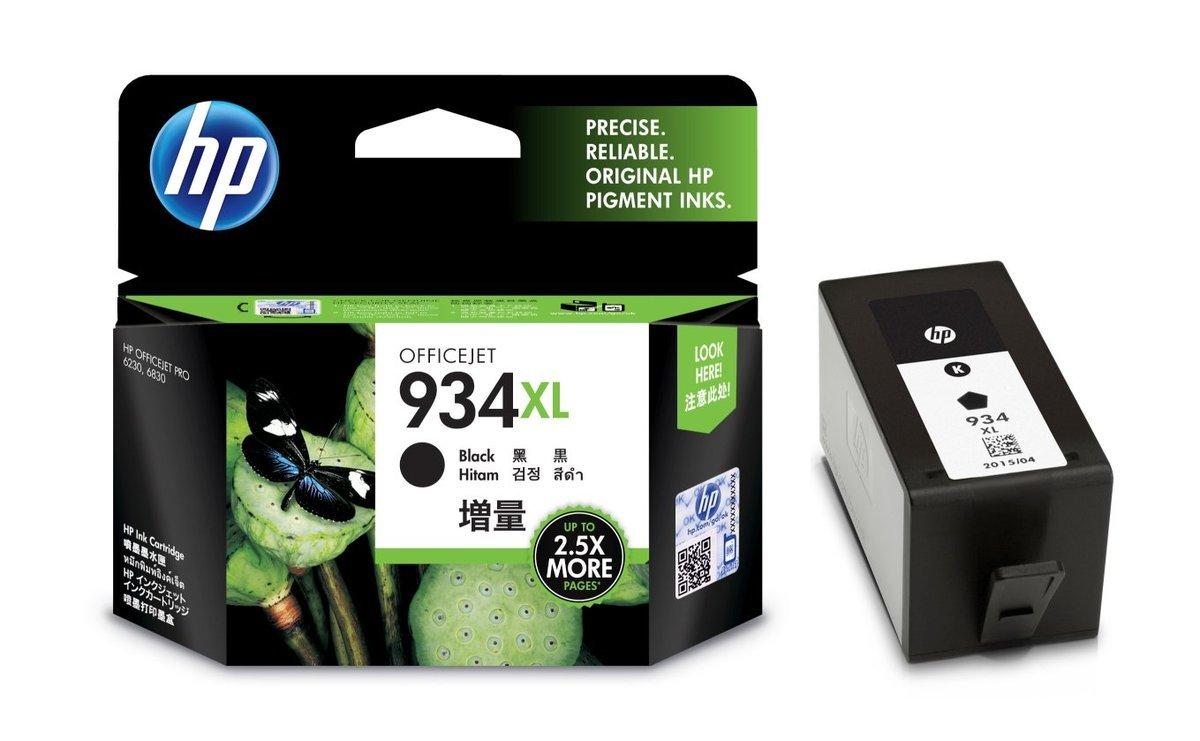 HP 934XL 黑色油墨盒(加大裝 C2P23AA)