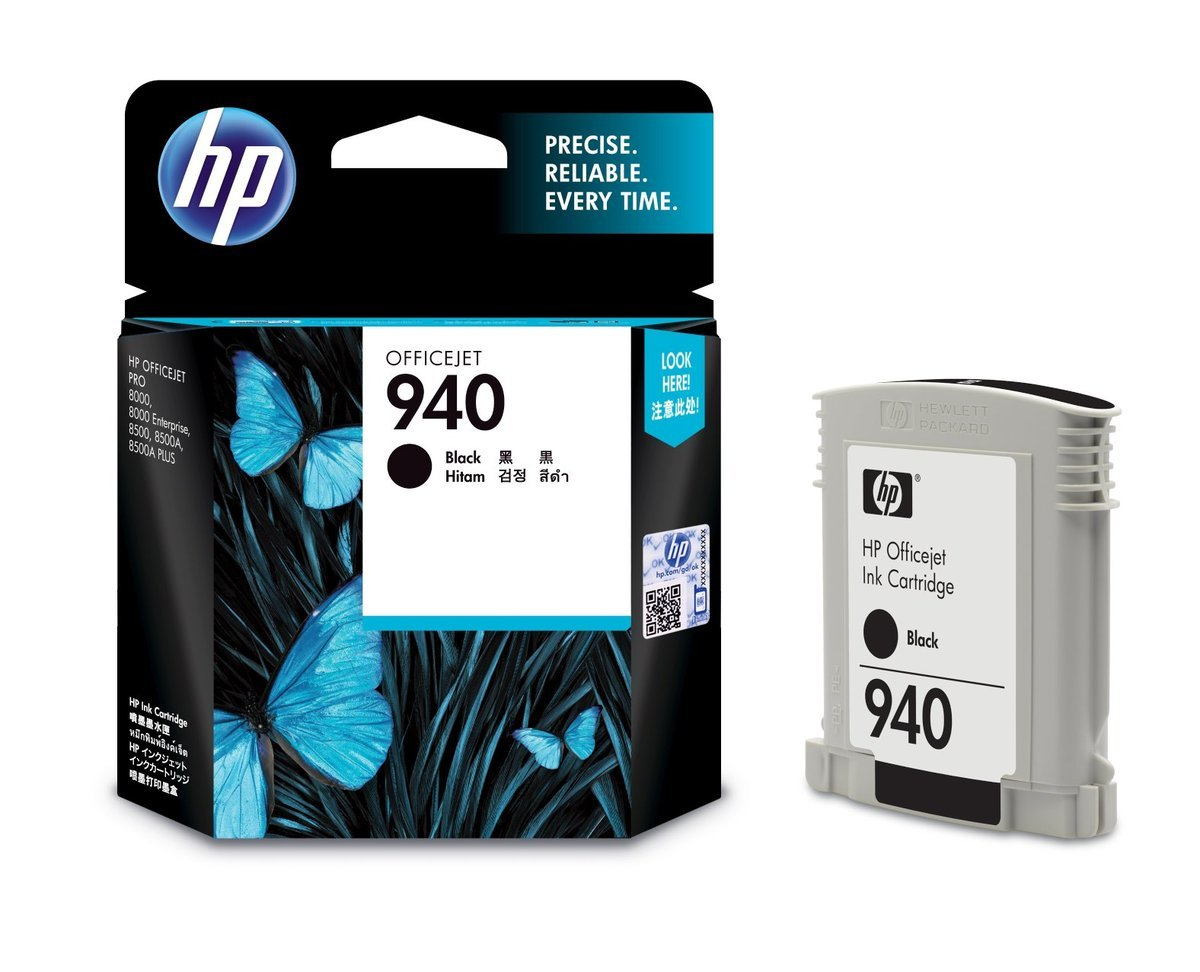 HP 940 黑色油墨盒(標準裝 C4902AA)