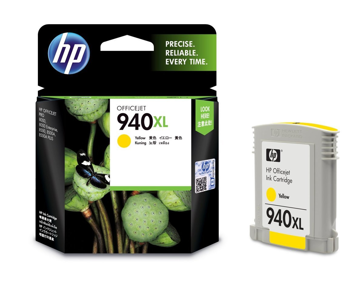 HP 940XL 黃色油墨盒(加大裝 C4909AA)