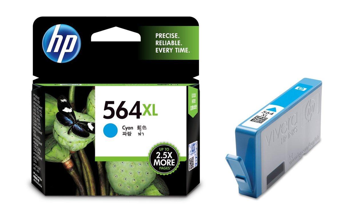 HP 564XL 藍色油墨盒(加大裝 CB323WA)