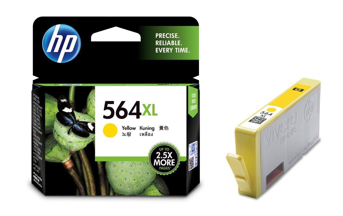 HP 564XL 黃色油墨盒(標準裝 CB325WA)