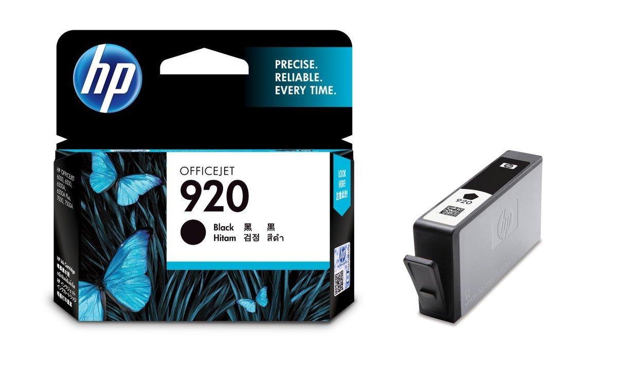 HP 920 黑色油墨盒(標準裝 CD971AA)