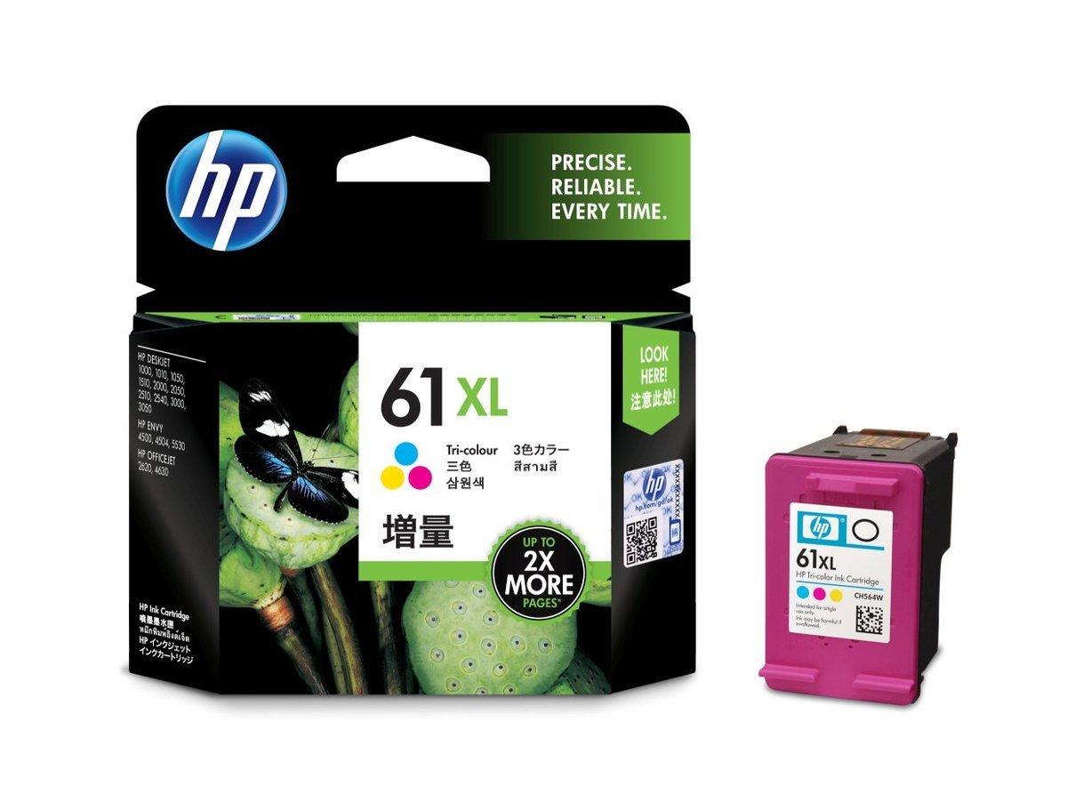 HP 61XL 三色油墨盒(加大裝 CH564WA)