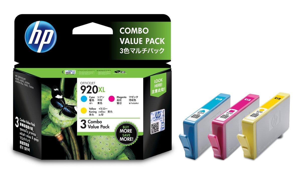 HP 920XL CMY Combo Pack(加大裝 E5Y50AA)