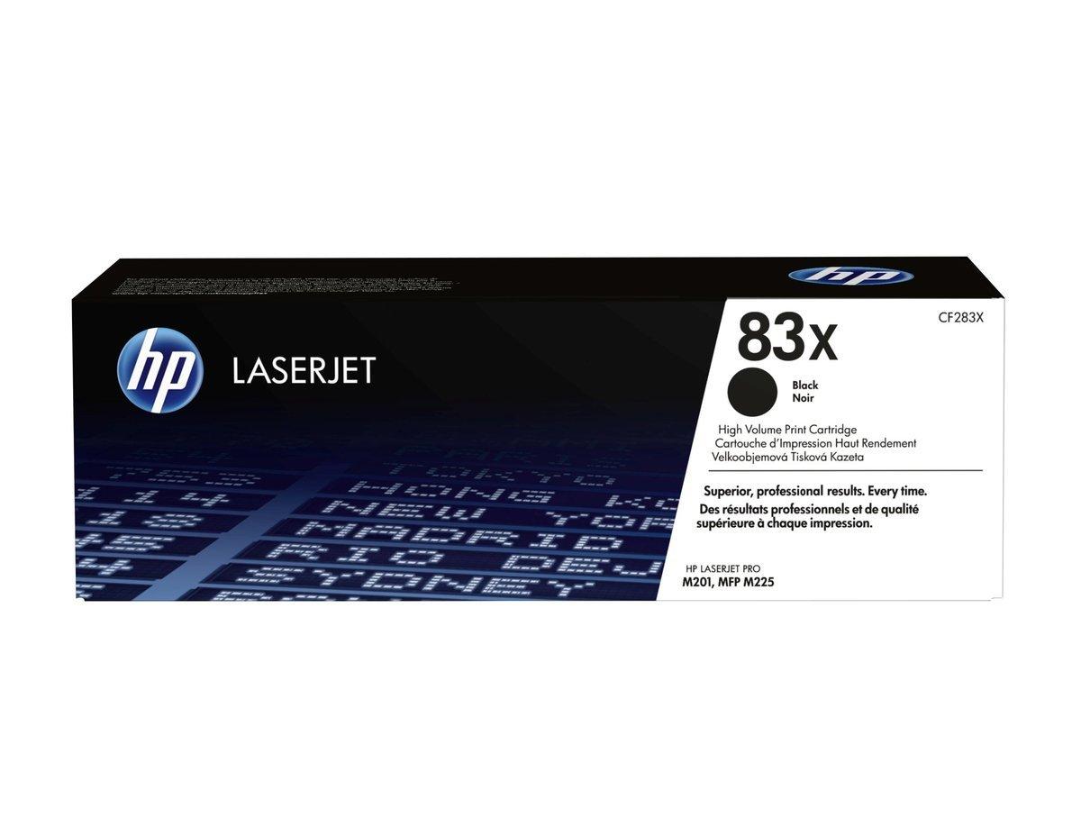 HP LaserJet 83X 黑色碳粉盒 (加大裝 CF283X)