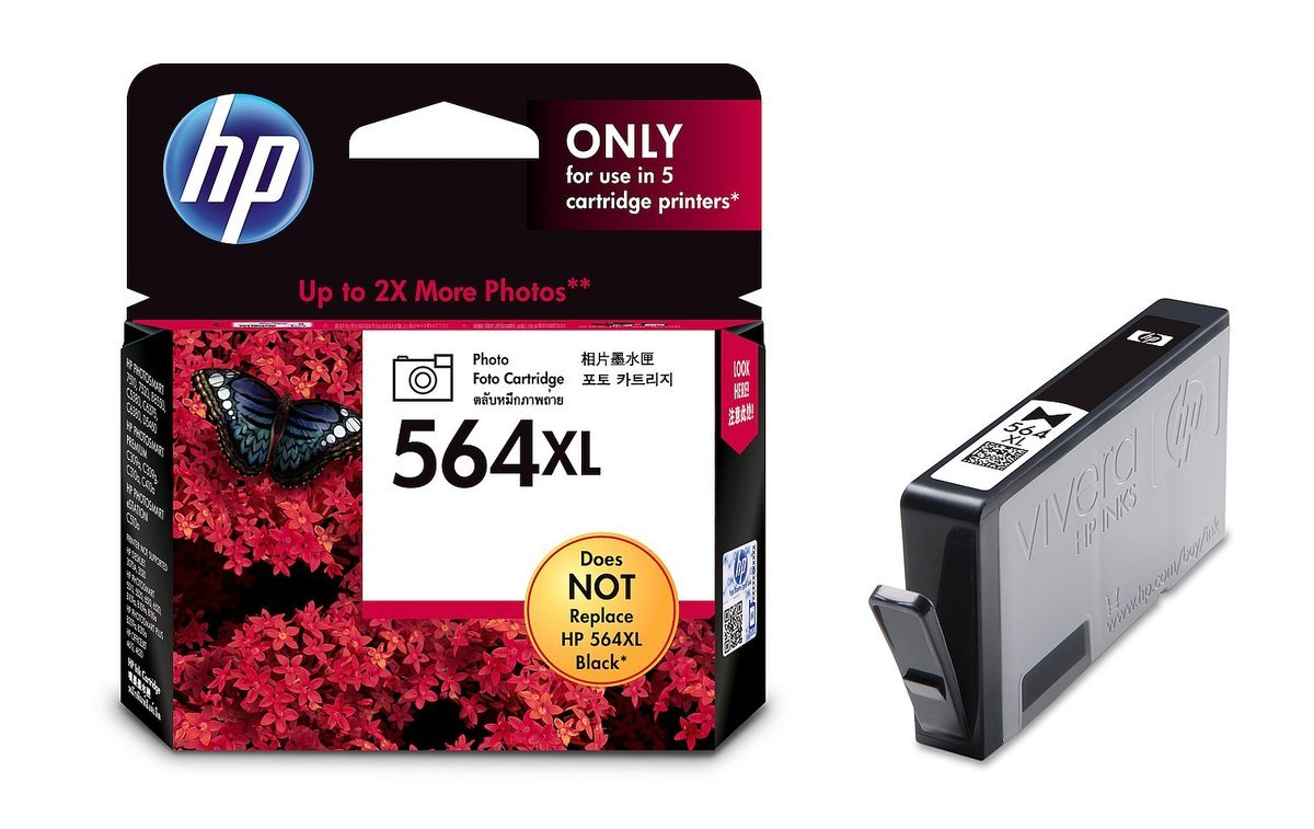 HP 564XL 相片油墨盒(加大裝 CB322WA) (不能取代HP 564黑色)