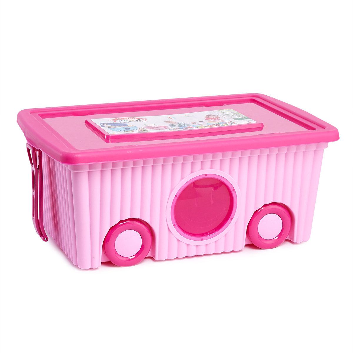 Trendy Storage Box With Wheels (Random Colour) (Body, Cover)