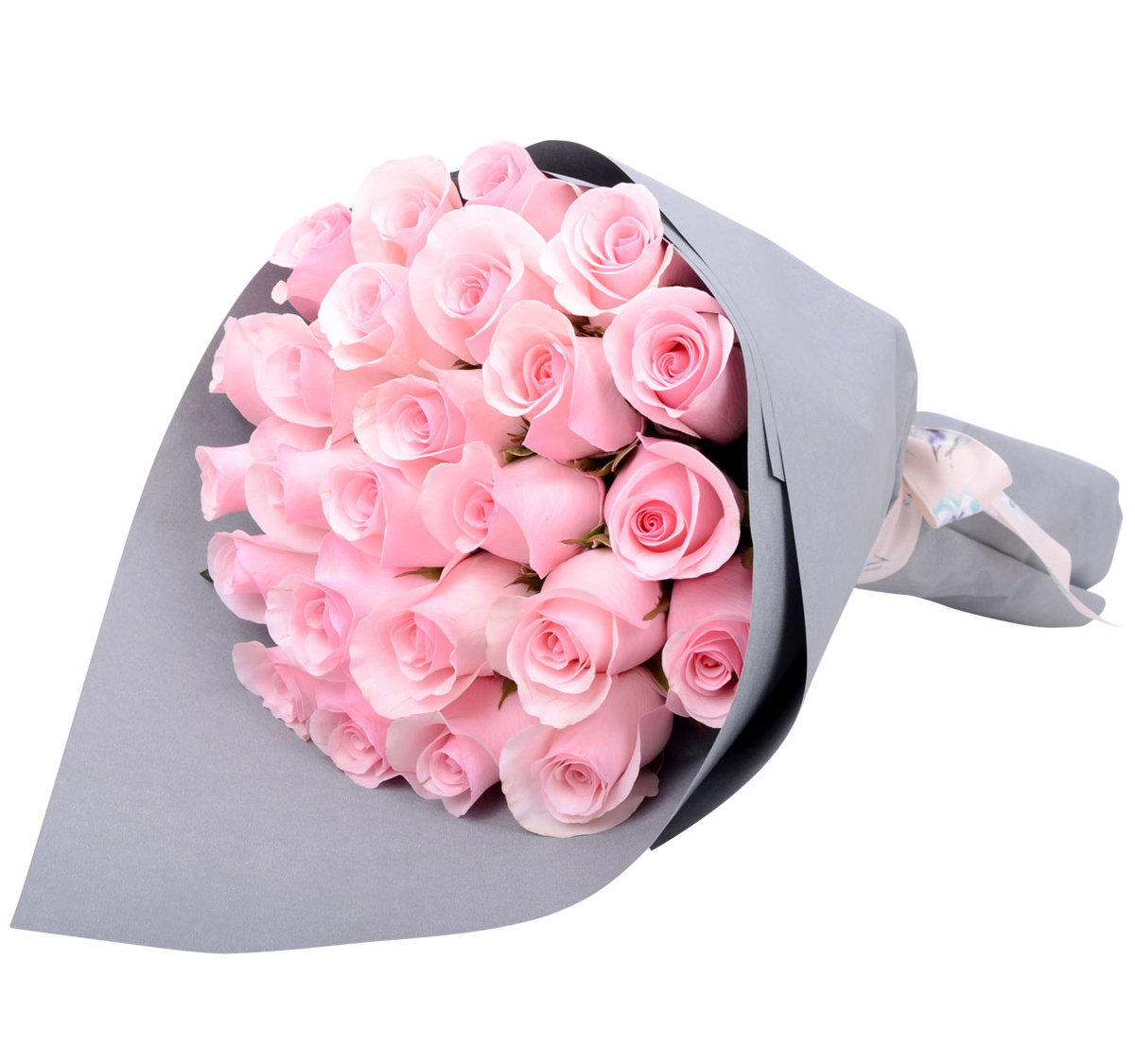 Gift Flowers Hk Pink Roses Only Bouquet 24 Stems E Voucher
