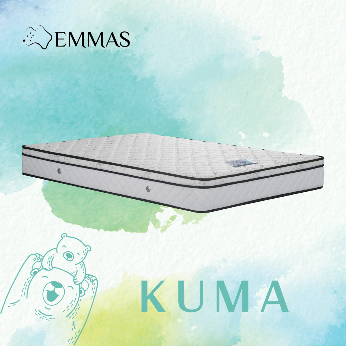 EMMAS | EMMAS KUMA Mattress 42x75x8 | Size : 42x75 | HKTVmall Online
