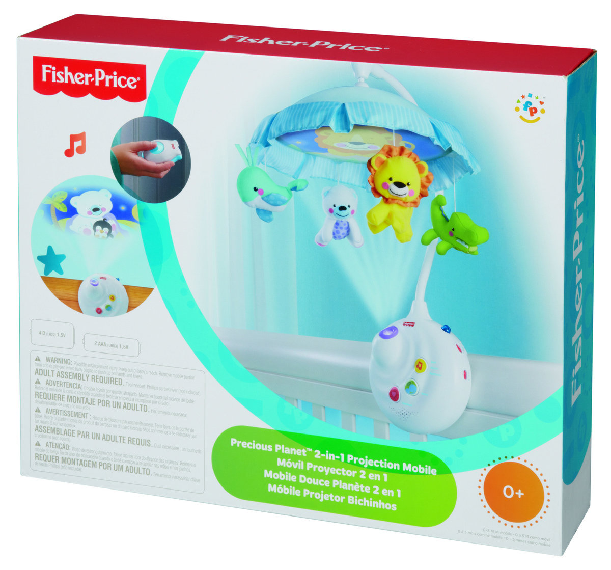 121768610699d Precious Planet 2-in-1 Projection Mobile