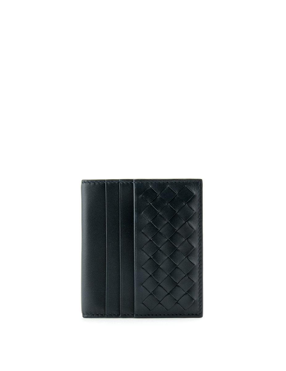 Small Bi-Fold Wallet In Intrecciato VN-Blue-BVWT17SH00273